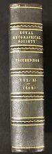 ROYAL GEOGRAPHICAL SOCIETY PROCEEDINGS, AUSTRALIA AFRICA AMERICA ETC. 1889.