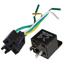 10Set 12V 30/40 Amp Car Auto Relay Socket Wire 4 Pin SPST Automotive Harness AUS