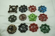 VINTAGE WATER KNOB LOT 12 CAST IRON VALVE FAUCET HANDLE ARCHITECTURAL SALVAGE ed