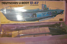 Altes 81er REVELL Plastikmodell Günther Prien Deutsches U-Boot U- 47 an Bastler!