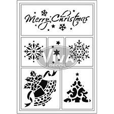 Christmas Stencils Viva Decor Flexible Sticky Stencil - Merry Christmas