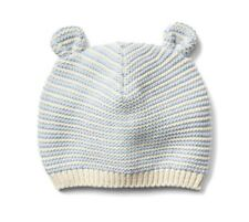 c7d6127f35d Gap Baby Girl   Boy Bear Garter Knit Beanie Hat Sweater Stripe Blue 12-18