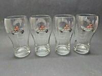 4 Vintage Rickard's Red Pint Beer Glasses with Logo