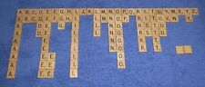 Scrabble Wooden Letter Tiles + Storage Bag Set ~ Replacement Game Pieces Lot