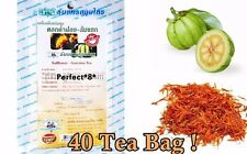 40 TEA BAGS GARCINIA CAMBOGIA WITH SAFFLOWER ORGANIC SLIMMING WEIGHT LOSS DIET.