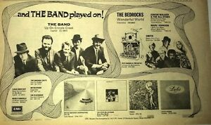 The BAND Up On Cripple Creek 1969 UK Press ADVERT 12x8 inches
