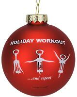 Tree Buddees Wine Opener Holiday Workout Funny Glass Christmas Ornament Xmas