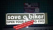 Guardar un ciclista abrir Tu Fu ** Ng Ojos pegatina reflectante Funny grosero Auto Camioneta Moto un