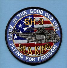 SIKORSKY SH-3 H-3 SEA KING US NAVY USCG Rescue Helicopter Squadron Jacket Patch