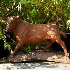 Cast Iron Miniature Bull Statue/Garden Ornament Feature