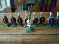 War Games  Metal Figures x 9  Roman soldiers  25mm