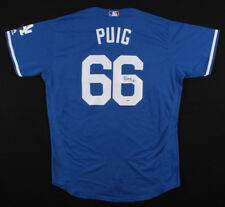 Yasiel Puig Signed Los Angeles Dodgers Majestic Official MLB Jersey (PSA Holo)