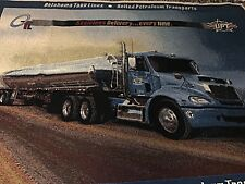 Oklahoma Tank Lines United Petroleum Transports Tapestry Throw Blanket 51� x 69�