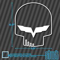 """Jake Skull Outline - 5.0""""x6.0"""" - vinyl decal sticker vette z06 c5 c6 c7 z07"""