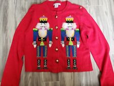 Red Belle Pointe Nutcracker Ladies Small Christmas Sweater