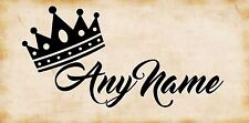 Personalised Princess / Prince Crown & Name Vinyl Wall Art Sticker Bedroom Decor
