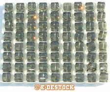 2 Perles Cube 6mm  6 mm cristal Swarovski 5601 - BLACK DIAMOND