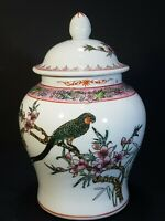 Oriental Hand Painted Chinese Lided Ginger Jar Pot 6.5""