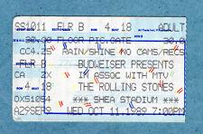 1989 Rolling Stones Steel Wheels Tour Concert Ticket Stub Shea Stadium NY