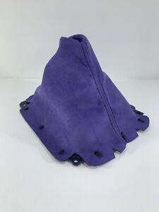 Fits 1999-05 Mazda Miata Nb Mx-5 Shift Boot Purple Suede Black Stitching