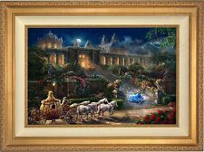 Thomas Kinkade Clock Strikes Midnight – LMT ED Canvas 18x27 S/N (Gold Frame)