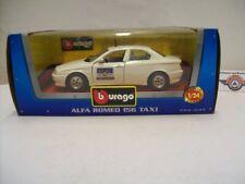 "Alfa Romeo 156 (932) ""TAXI"", 1997, white, Bburago 1:24 (Made in Italy), OVP"