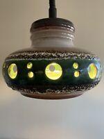 Mid Century Danish Modern Herda Ceramic Retractable Swag Lamp, Ceiling Light