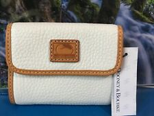 Dooney And Bourke Wallet Small White Pebble Leather •Cartera De Mujeres Monedero
