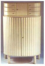ANTIGUA POSTAL ART DECO CABINET IN WHITE PAINTED WOOD 1910 POSTCARD      TC10884