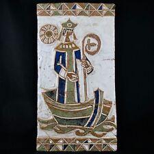 Ancienne Plaque LES ARGONAUTES VALLAURIS Céramique 50 ferlay/la borne/capron...