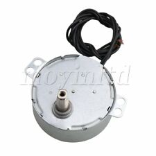 Synchronous Speed Reduction Gear Motor 7mm Shaft Diameter AC220V 0.8-1rpm Silver