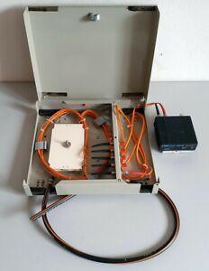 Telefon Verteilerkasten 32x28x5cm Glasfaser Lichtleitkabel Verteiler mit Schloss