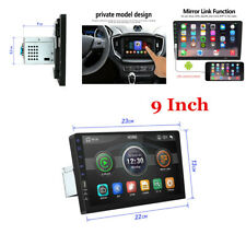 "9"" Single 1Din Touch Screen Head Unit Car Stereo Radio Mirror Link USB/TF/AUX"