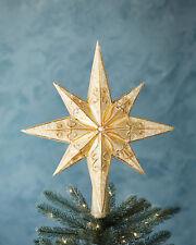 """Radko Champagne Stellar 14"""" 1017544 Star Tree Finial"""