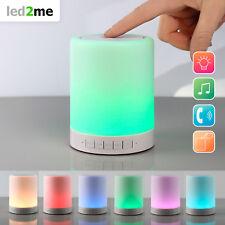 LED Bluetooth Lautsprecher mit RGB Farbwechsel Tischlampe Micro SD LED Lampe