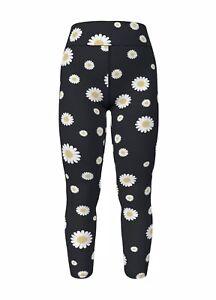 Lularoe TC Tall Curvy Leggings Daisy Daisies Flowers Floral New Print NWT