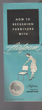 How to Recushion Furniture with Airfoam Goodyear Brochure 1953