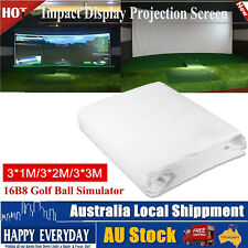 3 Size Fantastic Golf Ball Simulator Impact Display Projection Screen Indoor NEW