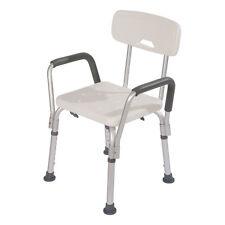 Medical Adjustable Shower Chair Elderly Bath Tub Bench Stool Seat Armrest Back