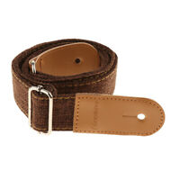 Adjustable Ukulele Strap Belt with PU Leather Ends for Uke Guitar -Coffee