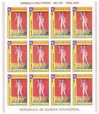 GUINEA ECUATORIAL  HOMENAJE A PABLO PICASSO 1881-1973 Hojas completas usadas