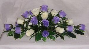 wedding flowers top table decoration lilac & ivory roses gyp many colours