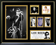 Lou Reed Signed Framed Memorabilia