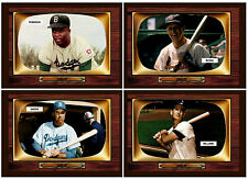 Color TV '55 Lot of 4: Ted Williams, Duke Snider, Stan Musial, Jackie Robinson