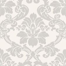 Essener Tapete Simpatia 1779 Ornamento Barroco Blanco Gris Claro