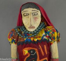 Kuna Yala Panama Indian Woman Handmade Wood Doll Dressed in Traditional Mola–42