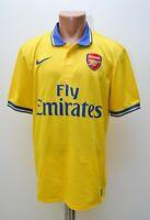 ARSENAL LONDON 2013/2014 AWAY FOOTBALL SHIRT JERSEY NIKE SIZE L ADULT