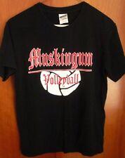 MUSKINGUM COLLEGE small T shirt Fighting Muskies vtg tee Volleyball OHIO