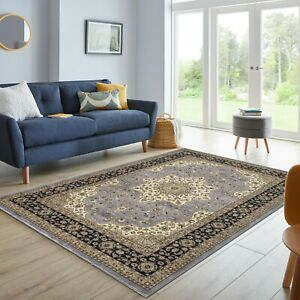 Traditional Area Rugs Small & Large Grey Runner Rugs Living Room Bedroom Carpets