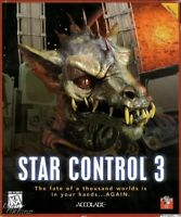 STAR CONTROL 3 w/1Click Windows 10 8 7 Vista XP Install